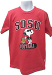 SDSU Youth Snoopy Football Shirt - Red