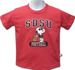 SDSU Toddler Snoopy Football Shirt - Red