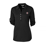 SD Spear Women's 3/4 Sleeve Polo - Black