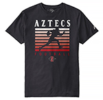 Aztecs Football Tee - Black