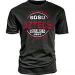 SDSU Aztecs Distressed Tee