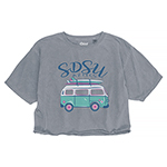 SDSU Women's Retro Van Crop