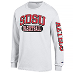 SDSU Basketball Long Sleeve - White