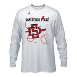 Nike Jordan SDSU Tournament Bench Dri-Fit Long Sleeve