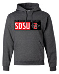 San Diego State University Boxed Logos Sweatshirt - Charcoal
