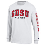 SDSU Alumni Long Sleeve Tee - White