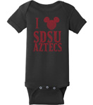 SDSU x Disney Mickey Onesie - Black