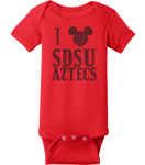 SDSU x Disney Mickey Onesie - Red