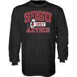 SDSU x Disney SDSU Aztecs Long Sleeve Tee - Black