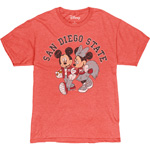 SDSU x Disney Mickey and Minnie San Diego State Tee - Red