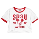 SDSU x Disney Women's Mickey Crop Tee - Red