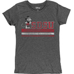 SDSU x Disney Women's SDSU Mickey Tee - Charcoal Gray