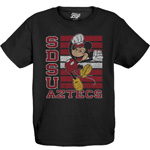 SDSU x Disney Youth SDSU Aztecs Mickey Tee - Black