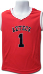Youth Aztecs Basketball Jersey - Red