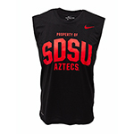 Nike SDSU Aztecs Sleeveless Tank - Black