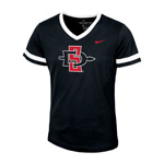 2020 Girl's Nike Sideline SD Spear V-Neck Tee - Black