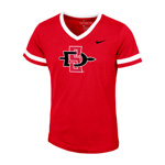 2020 Girl's Nike Sideline SD Spear V-Neck Tee - Red
