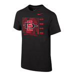 2020 Boy's Nike Sideline Aztec Football Cotton Tee - Black