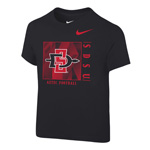 2020 Toddler Nike Sideline Aztec Football Cotton Tee - Black
