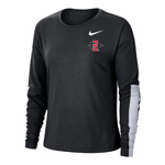 2020 Women's Nike Sideline SD Spear Breathe Long Sleeve Tee - Black