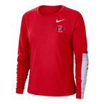 2020 Women's Nike Sideline SD Spear Breathe Long Sleeve Tee - Red