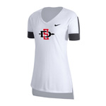 2020 Women's Nike Sideline SD Spear Fan Top - White