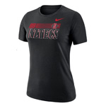 2020 Women's Nike Sideline SDSU Aztecs Cotton Tee - Black