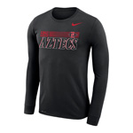 2020 Nike Sideline SDSU Aztecs Legend Long Sleeve Tee - Black