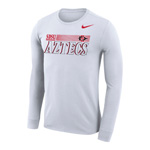 2020 Nike Sideline SDSU Aztecs Legend Long Sleeve Tee - White