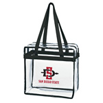 Clear Zippered Stadium Tote SD Spear SDS