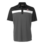 SD Spear Black and White Polo - Gray