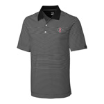 SD Spear Striped Polo - Black