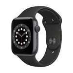 Apple Watch Series6 GPS, 40MM Black Sport Band - Space Gray Aluminum Case