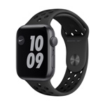 Apple Watch Nike SE GPS,  44MM Anthracite/Black Nike Sport Band - Space Gray Aluminum Case