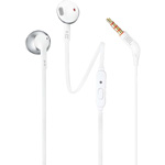 JBL Tune 205 In-Ear Earbuds - White Chrome