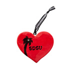SDSU Heart Ornament