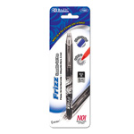 Bazic Frizz Black Erasable Gel Pen with Grip