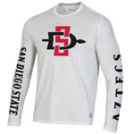 Under Armour SD Spear San Diego State Aztecs Long Sleeve Tee - White