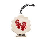 SDSU Shell Ornament