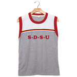 Women's SDSU Muscle Tank - Gray