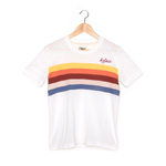 Women's Aztecs Retro Rainbow Tee - White