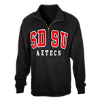SDSU Aztecs 1/4 Zip Sweatshirt-Black
