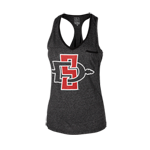 Women's SD Spear Jewel Tank-Charcoal