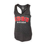 Women's SDSU Aztecs Jewel Tank-Charcoal