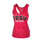 Women's SDSU Aztecs Jewel Tank-Red