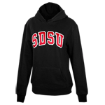 Women's SDSU Twill Pullover Sweatshirt-Black