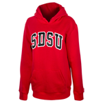 Women's SDSU Twill Pullover Sweatshirt-Red