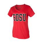 Women's SDSU Classic V-Neck Tee-Red