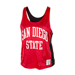 Women's Reversible Pinnie Jersey Tank-Red/Black