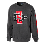 SD Spear Crew Sweatshirt-Charcoal